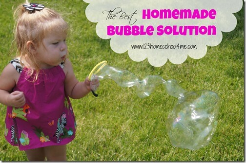 the best homemade bubble solution