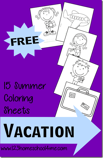 Looking for some cute, free printable summer coloring pages? These vacation coloring pages are a fun way for toddler, preschool, pre-k, kindergarten, and first graders to anticipate summer vacation ro remember the fun they had on your latest trip. Simply download pdf file withplane coloring pages and you are ready to color!