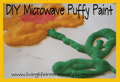 How to make Microwave Puffy Paint