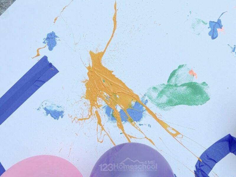 paint balloon artwork for kids