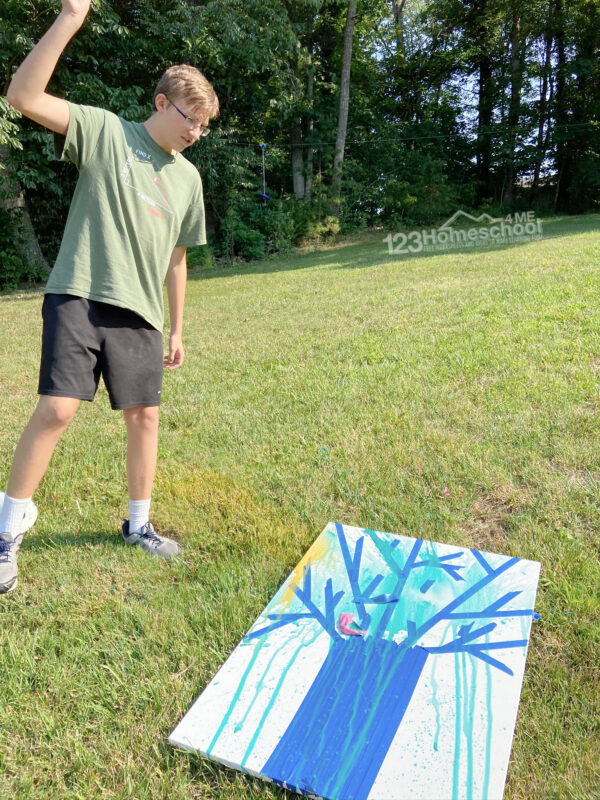 paint water balloon art project for kids