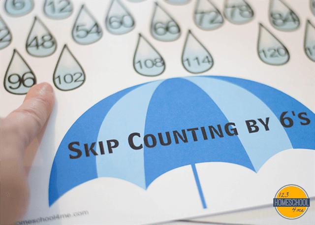 skip counting visual