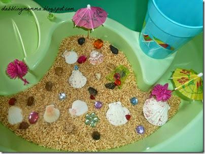 Beach Sensory Table from Dabblingmomma