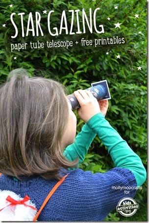 Star Gazing Telescope Craft from Kids Activities Blog
