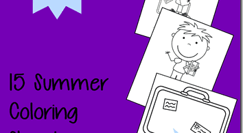 Here are some fun and FREE printable Vacation themed Coloring Pages for Toddlers and Preschoolers to color. These are great for summer!