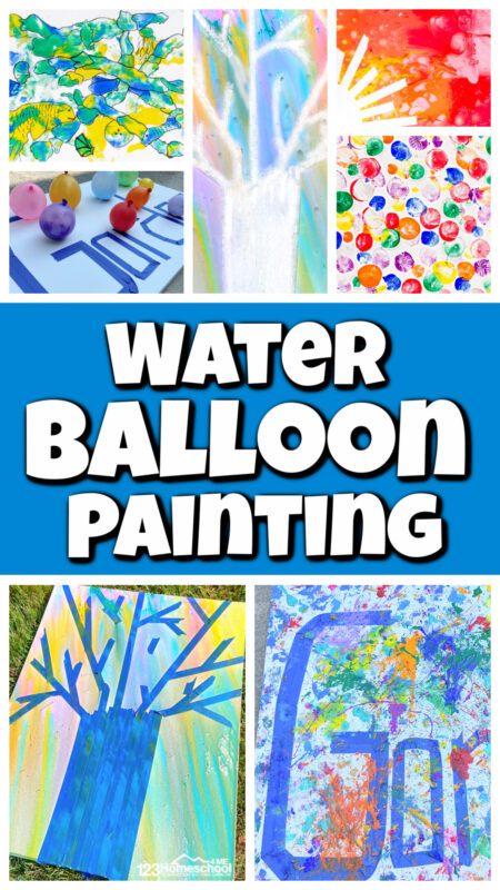 Ready for an EPIC summer activity for kids? You MUST TRY Water Balloon Painting! These water balloon games are simple to set-up but so much fun. Thesewater balloon activities get kids enjoying sunny days outside while still creating, using their imagination, and even cooling off. Thesefun water balloon games are perfect for toddler, preschool, pre-k, kindergarten, first grade, 2nd grade, and elementary age students!