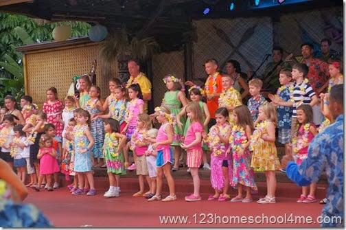 Disney's Polynesian Spirit of Aloha Dinner Show child participation