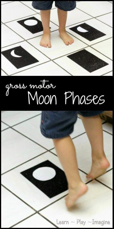 learn about the moon through gross motor play #science #preschool