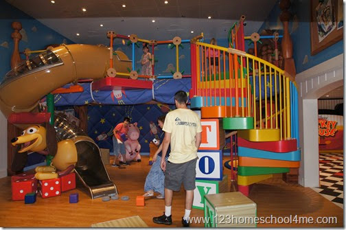 Amazing Childcare and facilities on Disney Magic - love the slinky dog slide!