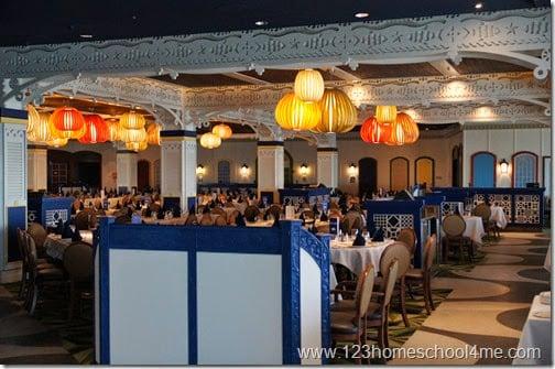 Disney magic Carioca's dinning room