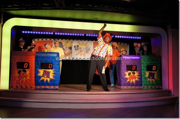 Mickey Mania gameshow for families on Disney Cruise LIne
