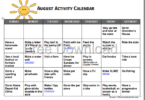 End summer just as strong as you started with this no prep, FRE August Activity Calendar for Kids perfect for kids of all ages!