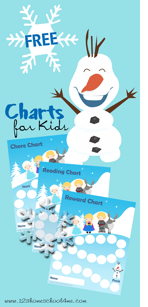 free frozen reward chart for kids