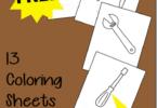 FREE Tools Coloring Sheets