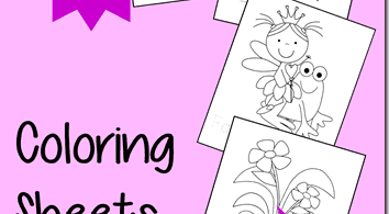 Fairy Coloring Sheets for Kids