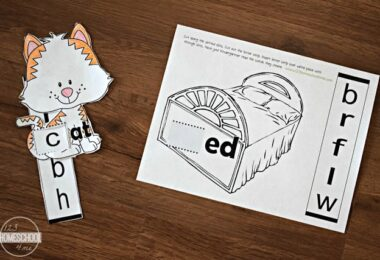 Kindergarten Word Family Sliders
