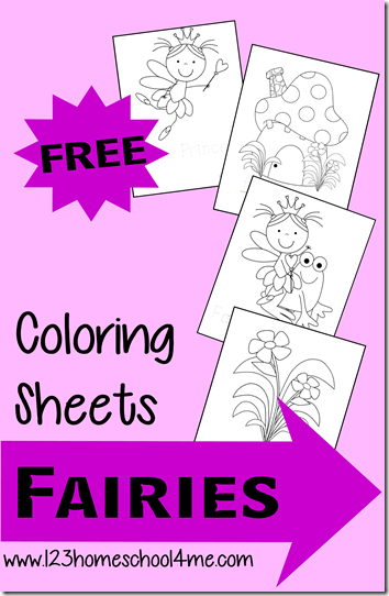 FREE Fairy Coloring Pages - these super cute coloring sheets are perfect for toddler, preschool, kindergarten, and first grade kids who love the Disney fairies like tinkerbell. Plus they are great for strengthening fine motor skills they will need to write. So give them lots of fee coloring pages this summer.