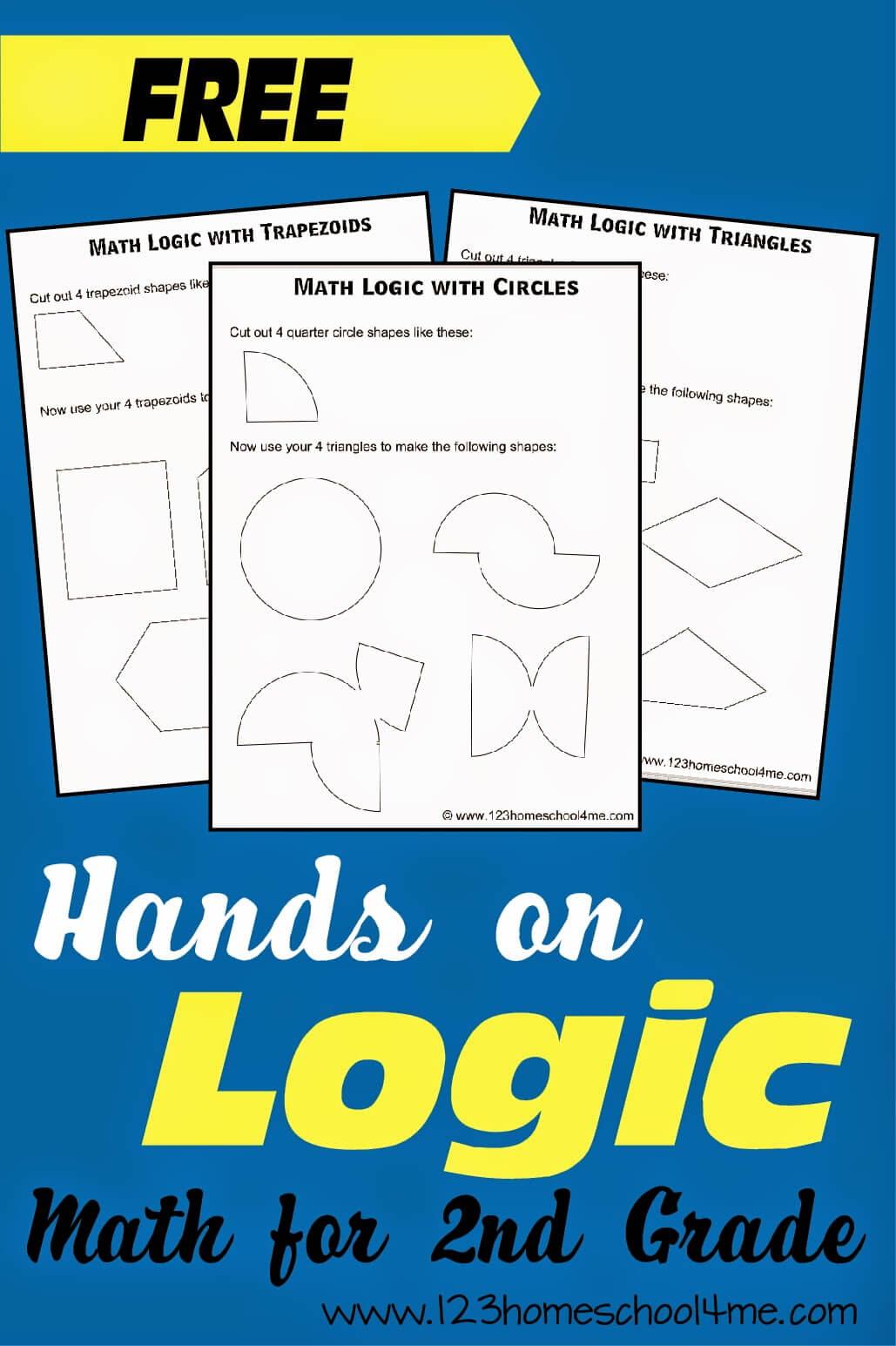 Shape Logic Problems for 2nd Grade Math