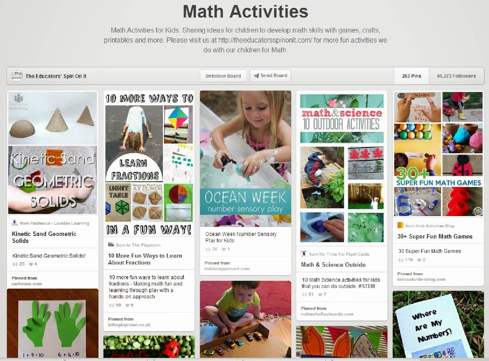 Best Math Pinterest Board for Homeschoolers
