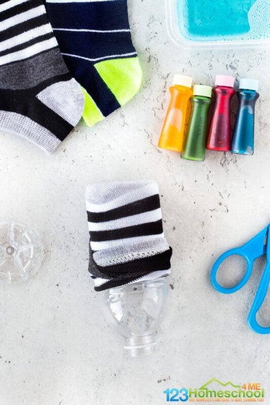sock activity for kids