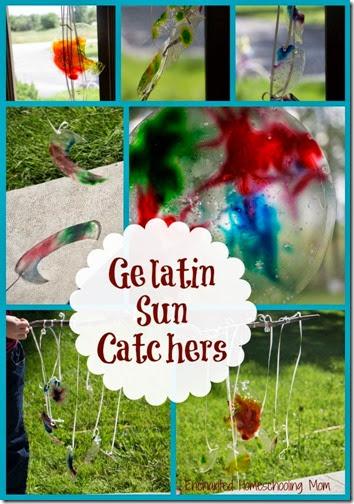 Gelatin Sun Catchers from Enchanted Homeschooling Mom