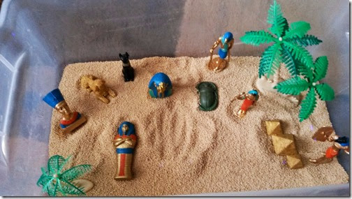 Egyptian Themed Sensory Bin from Sweet Silly Sara