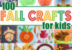 With cooler weather enticing you to stay inside, and the beautiful fall colors of the red, orange, and yellow falling leaves, now is the perfect time to try one of these fall crafts for kids. This huge list of leaf, pumpkin, apple, scarecrow, and more fall craft ideas is perfect for toddler, preschool, pre k, kindergarten, first grade, 2nd grade, and 3rd grade students.