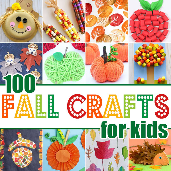 fall crafts for preschool, toddler, pre k, kindergarten, grade 1, grade 2, and grade 3 students