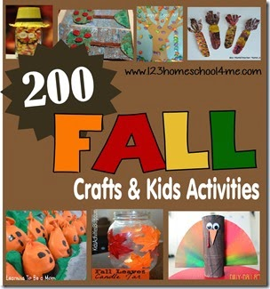 200 Fall Crafts & Kids Activities #fall #preschool #craftsforkids #kidsactivities