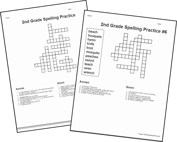 These 2nd Grade Crossword Puzzles are a super fun way to help your second grader practice spelling and build vocabulary while playing a fun language arts game! These second grade crossword puzzles are a fun way for grade 2 students to work on spelling common 2nd grade spelling words while having fun. Simply download pdf file with crossword puzzles for 2nd graders and you are ready to play and learn!