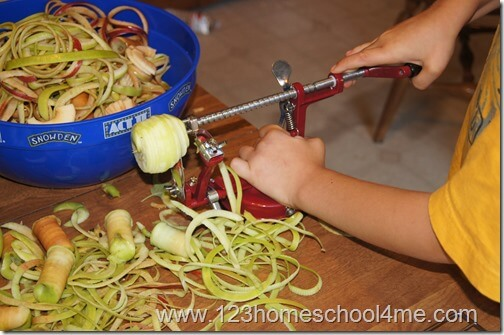 The easiest way to slice and peel apples