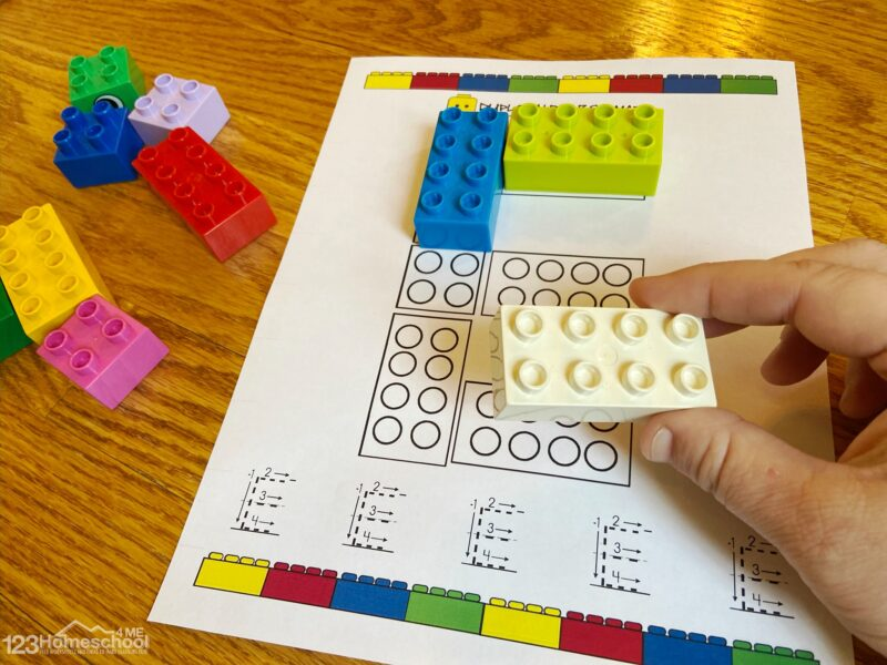 abc printable to teach pre k, kindergarten students with the Duplo Alphabet