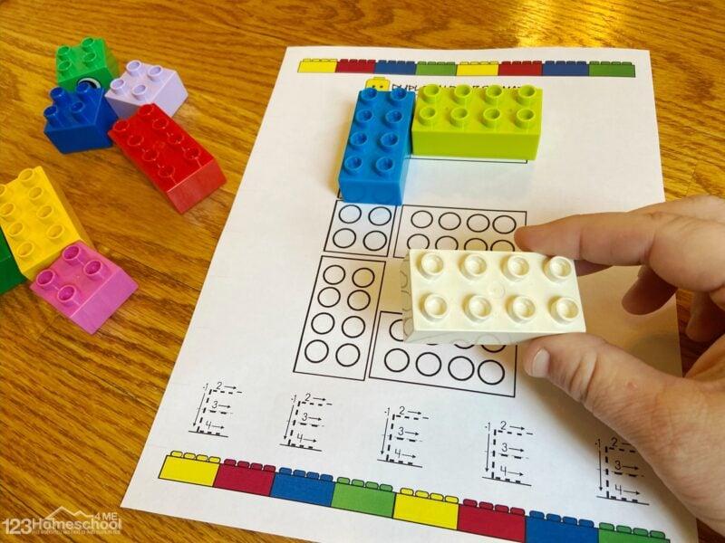 abc printable to teach pre k, kindergarten students with the Duplo Alphabet