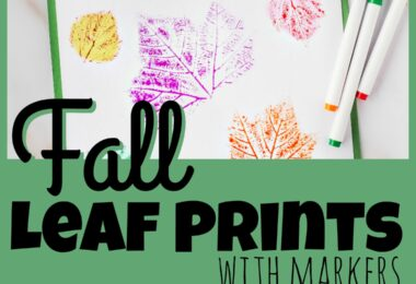Fall Leaf Prints with Markers