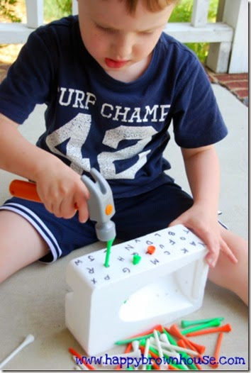 Pound the Sound Alphabet Activity for Preschoolers