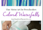 Waterfall Painting for Preschoolers