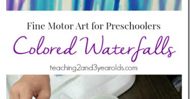 Waterfall Painting for Preschoolers