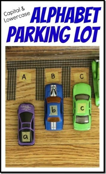 alphabet parking lot #alphabet #cars #preschool
