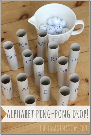 alphabet ping pong kids activity