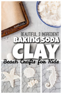 This beautiful and easy-to-makebaking soda clay is perfect for creating abeach craft for kids. The whitebaking soda and cornstach clay is fun to sculpt into pretty seashells, starfish, and other favorite seacreatures from your recent family vacation to the ocean. Thisbeach art project is such a fun summer craft for kids of all ages from toddler, preschool, pre-k, kindergarten, first grade, 2nd grade, 3rd grade, 4th garde, 5th grade, and 6th graders too. So whip up a batch of this3 ingredient white clay recipe today!