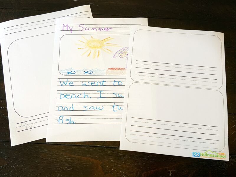 free printable blank writing paper for kids of all ages