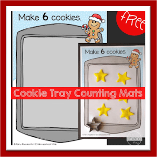 Christmas Cookie Tray Counting Mats Preschool Math