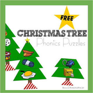 Christmas Tree Phonics Puzzles (Alphabet)