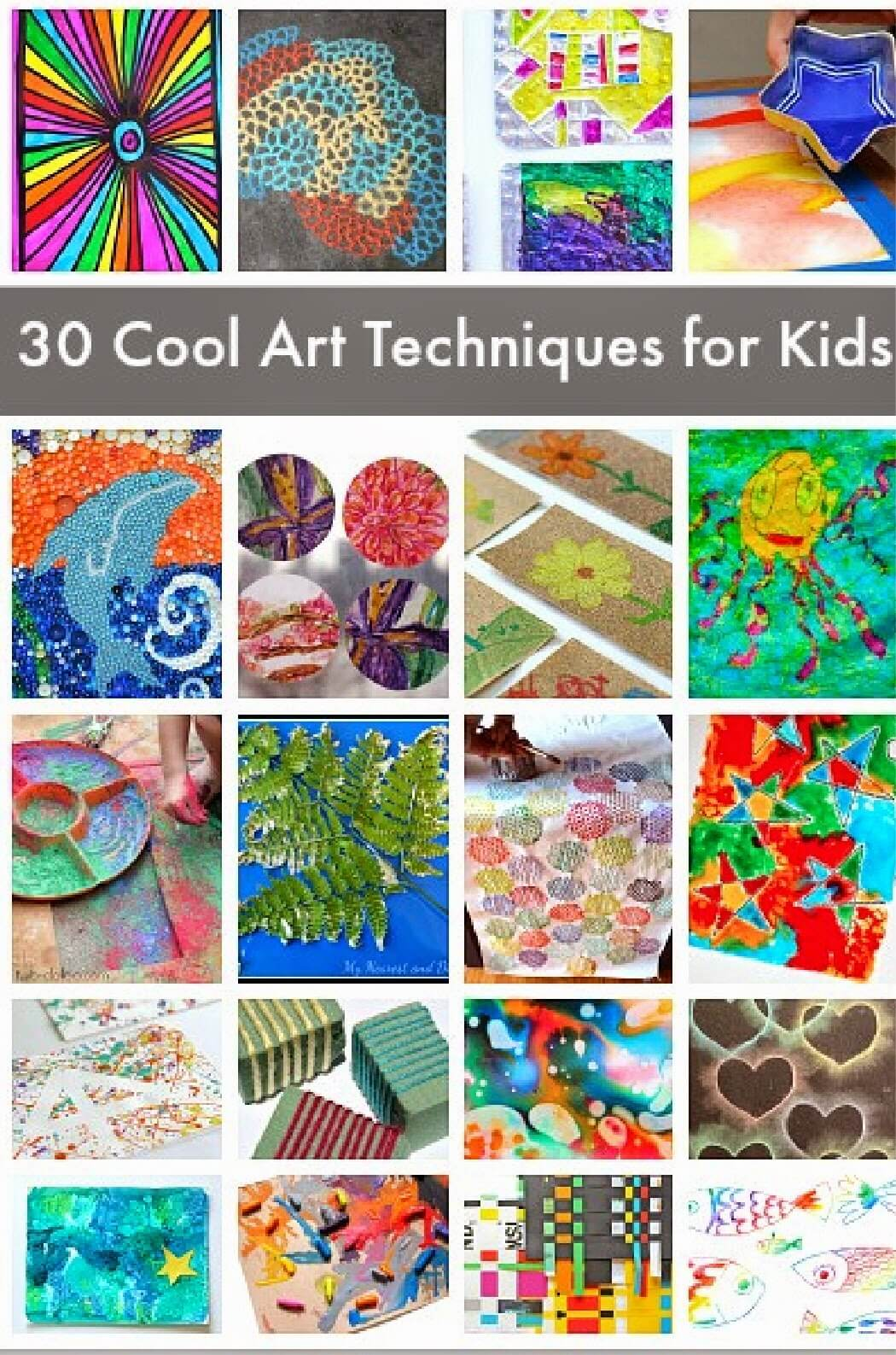 30 awesome art projects for kids #art #kidsactivities #homeschool