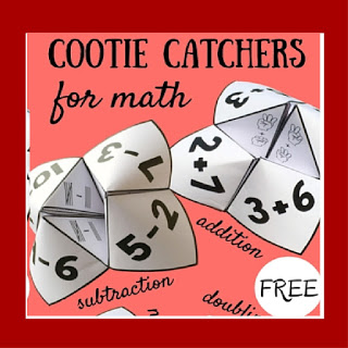 cootie catcher addition, subtraction cool math games