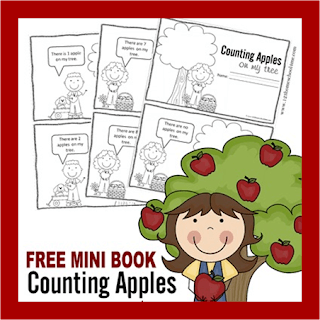 Counting Apples Mini Book 1 10