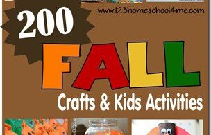 200 Fall Crafts & Kids Activities - SO many really cute, clever, and unique fall activities for preschool, prek, kindergarten, first grade, 2nd grade, 3rd grade, and more perfect for September, October, and November. Themes include corn, acorn, fall trees, leaves, pumpkin, and more! #fallcrafts #craftsforkids #preschool