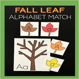 fall leaf alphabet match