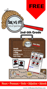 Solve It Parts of Speech Game