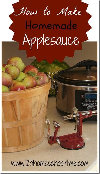 Our homemade applesauce recipe #recipes #fall
